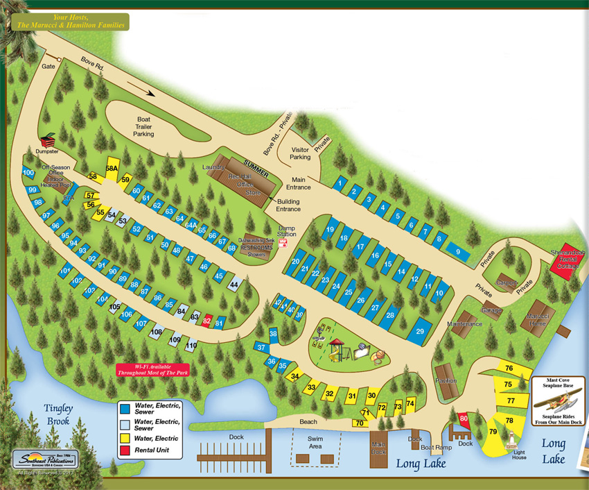 Colonial Mast Site Map
